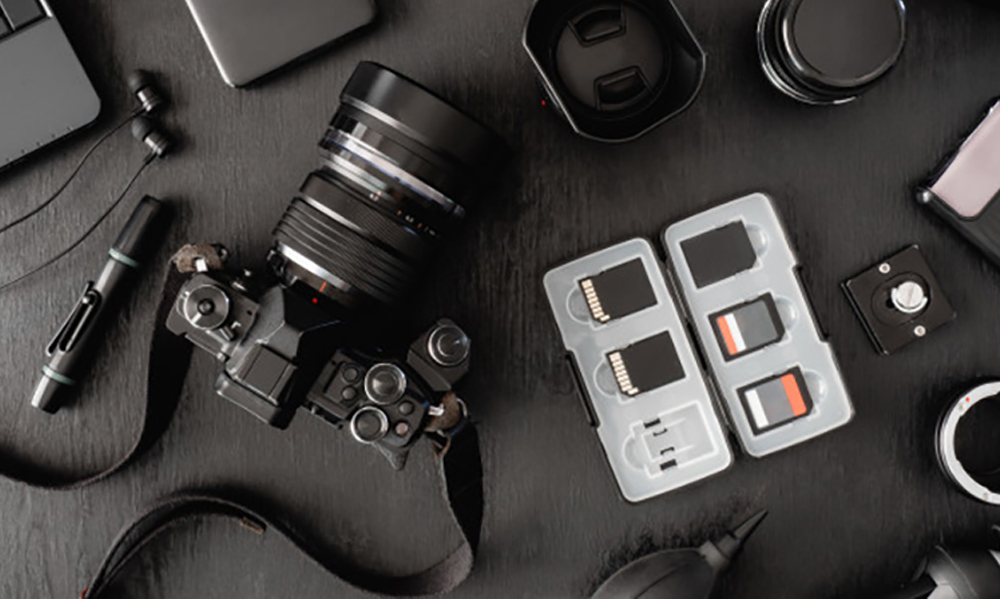 Top View Work Space Photographer Accesories 160097